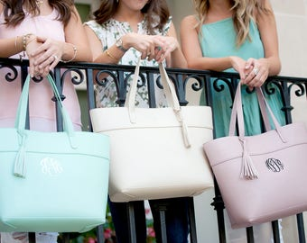 Monogram Purse, Personalized Bridesmaid Gift, Monogram Purse Leather Like, Embroidered Purse, Preppy Shoulder Bag,