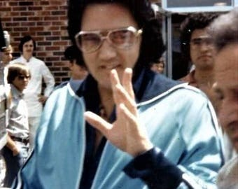Elvis Presley , Elvis on his way to one of his shows in 1976