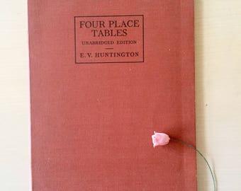 Antique Mathematics Tables-Guide-Ephemera
