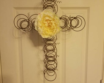 Salvaged Mattress Spring Cross