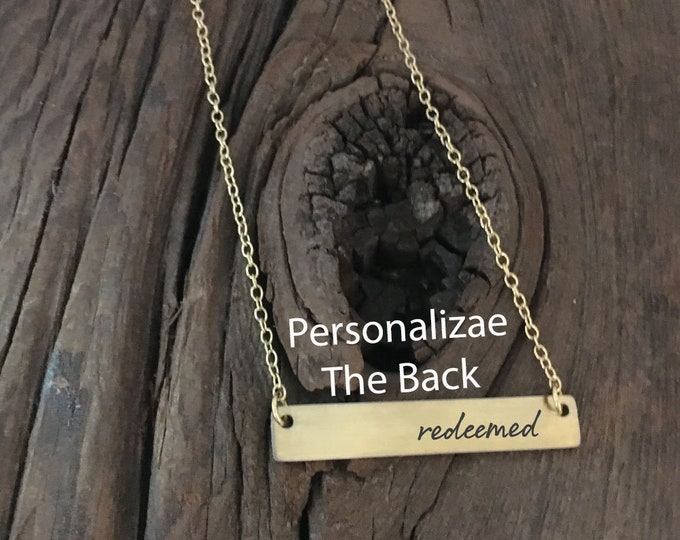 Redeemed Bar Necklace Religious Necklace Gift Idea For Her Jewelry Prayer Necklace Redeemed Bar Necklace Gift For Christian Gift For Her