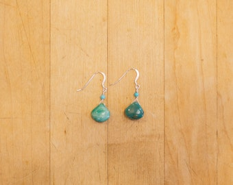 Peruvian Opal & Turquoise Earrings