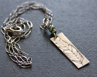 Sterling silver feather necklace // Feather Necklace // Artisan necklace