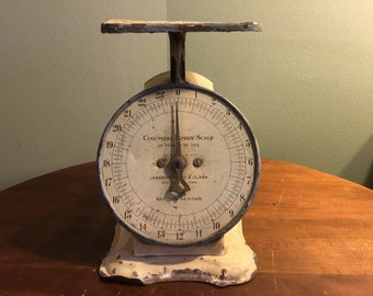 Antique Columbia Family Scale Landers, Frary & Clark