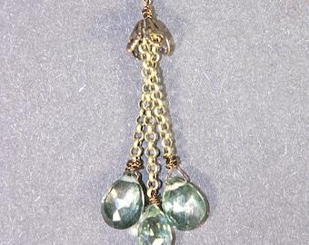Green Quartz Necklace & Earring Set