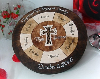 Custom Designed Unity Puzzle ® Wedding Puzzle Personalized Christmas Gift For Grandparents Blended Family Wedding Puzzle Wooden Tray Puzzle