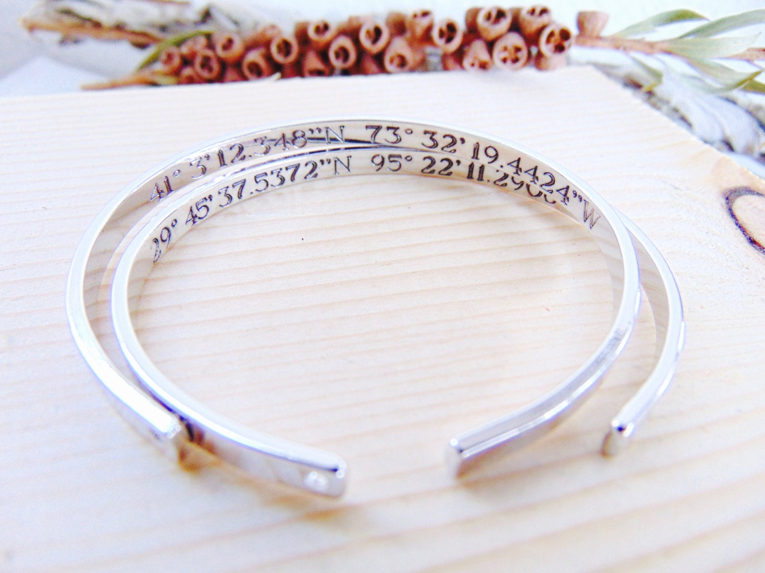 coordinates orbit grace and stainless in bracelet ltd latitude charm butler longitude products steel custom ladies