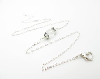 Handmade Quartz and Sterling Silver Necklace