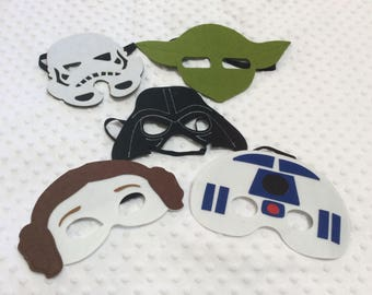 10 Star Wars Masks, Star Wars pary favors, Darth Vader, Storm Trooper, Star Wars, Party Favors, Birthday favors