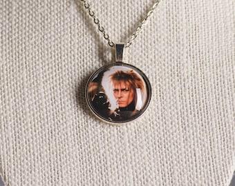 Labyrinth inspired Jareth image pendant necklace