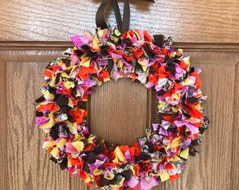 SALE / Fall Fabric Wreath / Fall Wreaths for Front Door / Thanksgiving Wreath / Autumn Door Wreath / Fall Front Door Wreath / Autumn Wreath