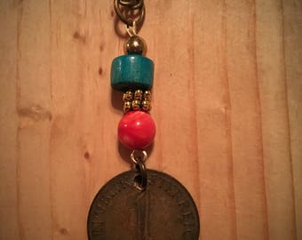 Bronze Coin Pendant Chain Necklace / One of a kind necklace / Perfectly Unique Piece