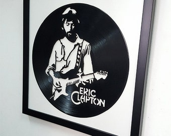 Eric Clapton Wall Art - Vinyl LP Record  Framed -Great Rock'n'Roll Gift