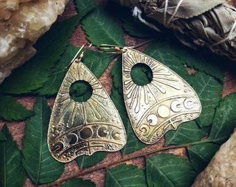 Planchette moon phase earrings