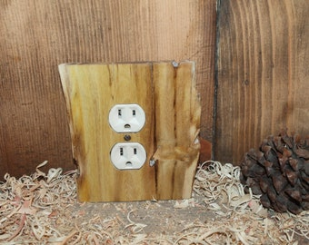 wooden outlet cover