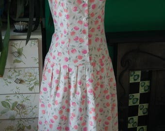 Vintage sundress , drop waist size 8-10