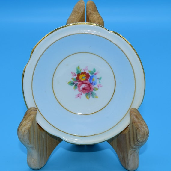 Paragon Blue Butter Pat Dish Vintage Fine Bone China Made in England Floral Butter Pat Plate Mothers Day Gift Wedding Gift Decor