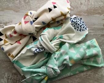 Woodland Wonders Organic Topknot Headband - Infant and Toddler Headband - Baby Headband - Baby Turban - Baby Topknot - Baby Shower Gift