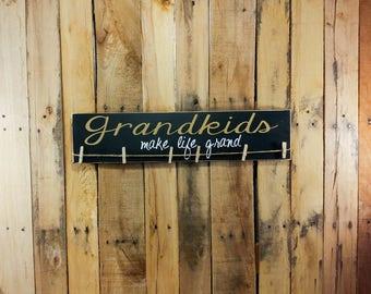 Grandparent Sign - Grandparent Announcement - Grandparent Gifts - Gifts For Grandparents - Signs For Grandparents - Picture Holder