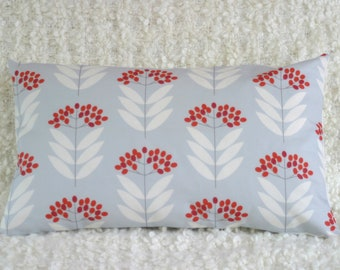 Pale Blue Elderberry Throw Bolster Cushion Cover Pillow Sham
