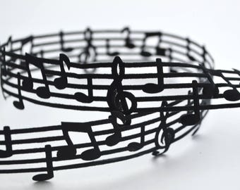 """Musical Notes Heat Cut Out Ribbon 1"""" wide Scrapbooking HairBows Parties DIY Projects MN032617"""