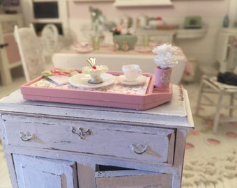 Free Shipping to the US - Shabby Chic Dollhouse Dessert Tray set