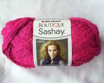 PINK Sashay Ruffle Scarf Yarn ~ Red Heart Boutique Sashay Mesh Yarn ~ Pink Ruffles ~ Yarn Supply ~ Ruffle Yarn ~ Pink Sashay ~