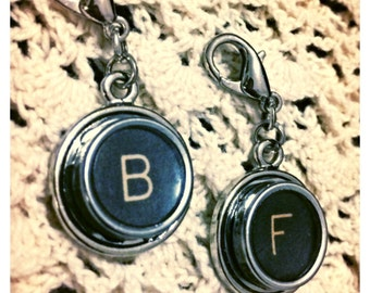 Personalized Vintage Typewriter Key Letter Pendant or Charm