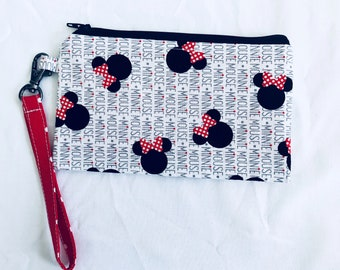 Mini Mouse phone and coin purse / wristlet