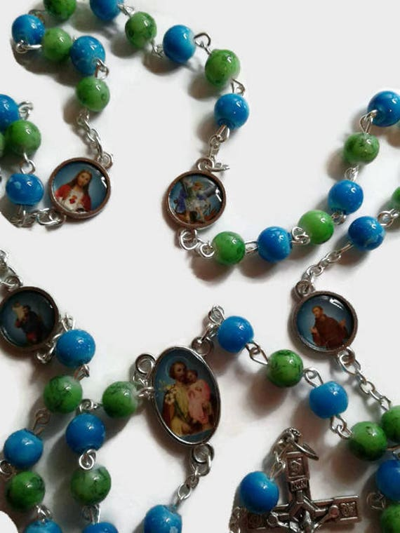 Rosary for Boys, Rosary for Boys with the Sacred Heart of Jesus, St Michael, St Jude, St Christopher, St Joseph, St Francis