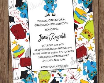 Owl Graduation Celebration Invitations- 1.00 each with envelope