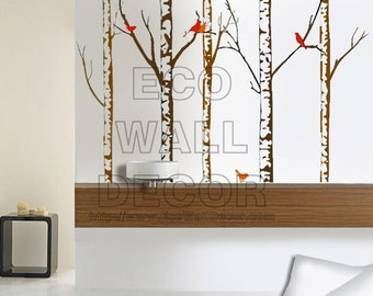 PEEL and STICK Removable Vinyl Wall Sticker Mural Decal Art - Giant Autumn Tree Branches