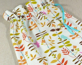 Shoe Bags, Travel, leaf, cream, cocoa, red, drawstring bags, lingerie, set of bags, reusable cotton bag