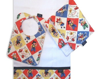 Yippee Bib, Burp Cloth and Cuddle Blanket Set
