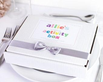 Personalised Wedding Activity Box For Children