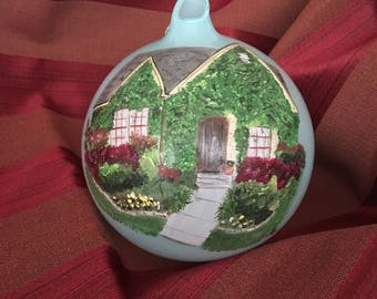 Custom Painted House Ornament, Personalized Keepsake, Painted from your photos