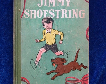 1931 Terrier Dog Story Book:  Jimmy Shoestring by Marion Le Bron. 1st Ed. Children's Book Vintage