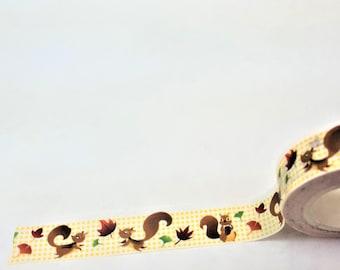 Cute Squirrel Washi Tape