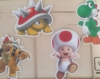 Super Mario Brothers Inspired Centerpiece Character on a Stick