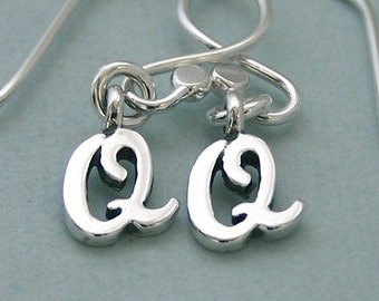 Double Q Dog Agility Earrings - Sterling Silver - Dog Agility Jewelry - Canine Agility Earrings