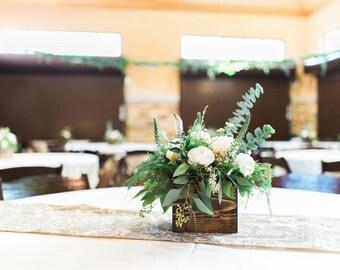 Wood Centerpiece, Wedding Centerpiece, Rustic Wedding Decor, Table  Decorations, Reclaimed Wood Centerpiece