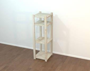 Free Standing Shelf, Nightstand, Small Free Standing Shelf, Small Wood Shelf, Wood Nightstand, Small Wood Nightstand