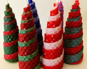 Double Spiral Beeswax Candles