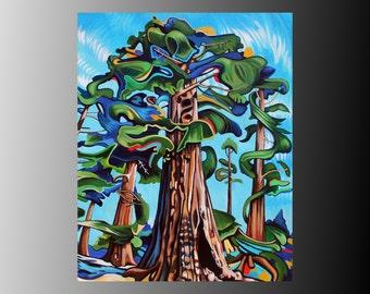 "CANVAS PRINT  Emily Carr Tree Painting 10x8"" 14x11"" 20x16"" 28x20"" 40x28"""