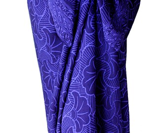 Indigo Beach Sarong Women's Clothing Wrap Skirt - Gingko Leaf Sarong - Beach Cover Up - Batik Pareo - Batik Sarong Skirt - Hawaiian Swimwear