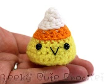 Candy Corn Plush Toy Plush Tiny Amigurumi Fall Thanksgiving