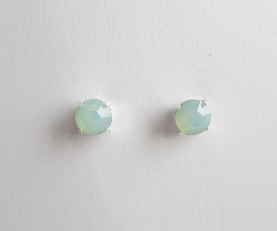 Mint Opal Stud Earrings