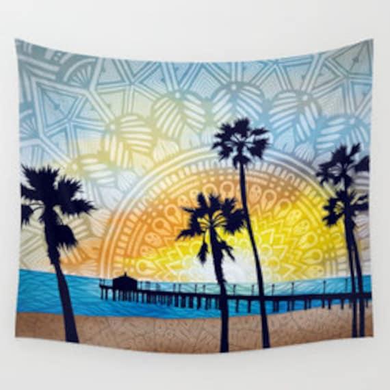 Beach Pier Tapestry