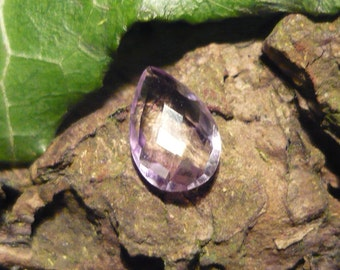 Teardrop Amethyst, 1,1ct Checkers Cut