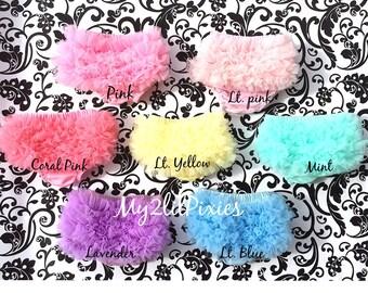 Baby Bloomers, Ruffle bloomer, Chiffon Ruffle Bum Baby Bloomer, Diaper Cover, Newborn bloomer. Baby Girl bloomer- ready to ship